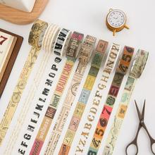 1.5cm Wide Creative Vintage Decorative Washi Tape DIY Scrapbooking Masking Tape School Office Supply(China)