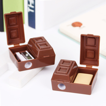 2PCS Personality Design Chocolate Pencil Sharpener Student Special Stationery School Supplies(China)