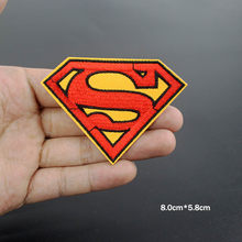 20pcs lot superman supergirl patches Embroidery badge iron on patchwork DIY  for clothing Stickers Fabric 09294785aaa4