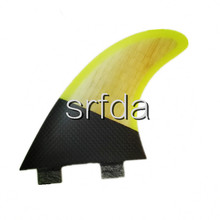 FCS -G5 surfboard fins with fiberglass honey comb material rainbow colorSURF fins (Tri-set)