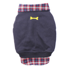 Dog Cat Jackets Grid Sweater Puppy Warm Coat T-Shirt Pet Clothes POLO Shirt Dog Apparel Clothes(China)