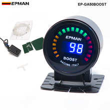 "EPMAN - 2"" 52mm Digital Color Analog LED PSI/BAR Turbo Boost Gauge Meter W' Sensor Monitor Racing Gauge FOR BMW M3 EP-GA50BOOST(China)"