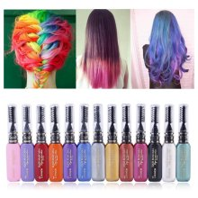12 Colors One-time Hair Color Hair Dye Temporary Non-toxic DIY Hair Color Mascara Dye Cream Blue Grey Purple