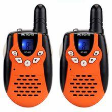 RETEVIS 2pcs Children Walkie Talkie Kids RT602 0.5W PMR 8/22CH PTT Flashlight Mini 2 Way Radio RT-602 (EU Plug)