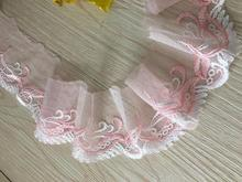 Pink high-grade exquisite net yarn lace water soluble lace 6 cm wide(China)