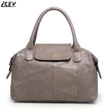 Organizer fashion classic women's genuine leather handbags large capacity messenger bag high quality boston tote bags OL office(China)