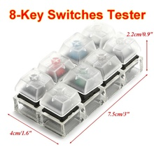 For Cherry MX 8 Keycaps Translucent Clear Keycaps Acrylic Caps Mechanical Keyboard Switches Tester Sampler Kit Testing Tool