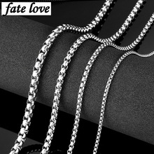 Colar men necklace stainless steel chain man jewelry accessories friendship gift hip hop jewellery necklaces silver cheap price(China)