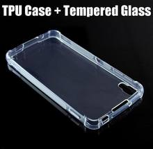 Idol 4 6055K case shockproof air cushion cover skin soft crystal clear case for Alcatel idol 4 case DTEK50 & 2 tempered glass