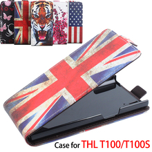 100% High Quality Leather Case For THL T100/T100S Flip Cover Case housing For THL T 100/T100 S Leather Cover Mobile Phone Cases