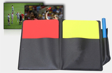 Fair Play Soccer Referee cards wallet soccer coin Football red and yellow card referee Football red and yellow