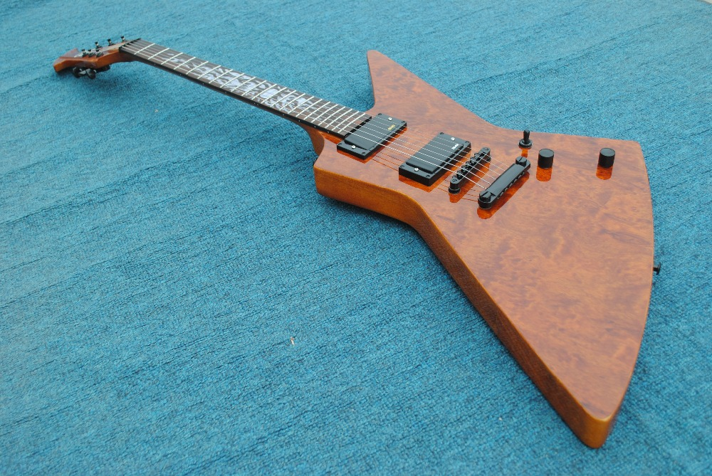 2017 New + Factory + red color finish esp explorer guitar james hetfield explorer guitar elk fretbard inlays pickups esp(China (Mainland))