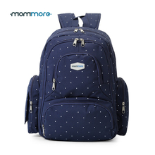 mommore New Diaper Backpack Fully-opened Baby Diaper Bag with Changing Pad Mummy Backpacks Nappy Bags Multifunctional Backpacks(China)