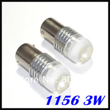 50pcs/lot 1156 led light BA15S Super White SMD LED Projector Light Bulb 3W Car Stop Brake Signal Lights Bulb Lamps 12V(China)