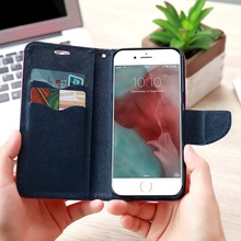 FLOVEME For iPhone 5S SE Phone Case Leather Flip Case For Apple iPhone 5 5S 5G Card Slot For iPhone 7 6 6S Plus Cases Accessory(China)