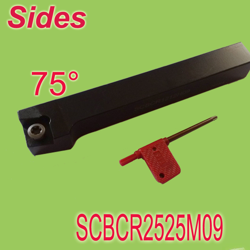 Free Shiping  SCBCR 25*25*150mm SHK 1 93 Degree External Screw Down Locked  Lathe Tool Holder Suit for CCMT09T304  For Lathe<br>