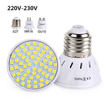E27 GU10 MR16 Led Bulb 220V 230V Led SpotLights SMD2835 Bombillas 48 60 80LEDs Lampara for Home Lamps Spotlight