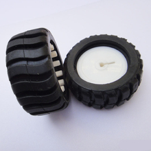 43x19x3mm D hole rubber wheel/DIY tracking car robot accessories/model wheel/tamiya/hot wheel/toy accessories/technology model(China)