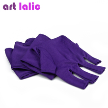 Purple color Anti UV Gel Glove for UV Light / Lamp Radiation Protection Manicure Nail Art Dryer Salon Tools