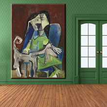 xh845 femme au chien picasso popular printed art paintings canvas bedroom wall decor paintings art unframed