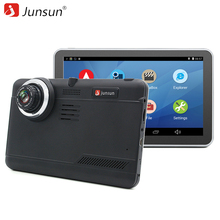 Junsun Car DVR GPS Navigation 7 inch Android Bluetooth wifi fhd 1080p Camera Recorder Vehicle GPS automobile navigator free maps(China)