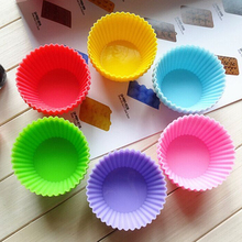 12pcs/lot Round shape Silicone Muffin Cases Cake Cupcake Liner Baking Mold