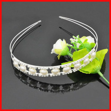 Wholesale Jewelry Gift Women's Queen Pearl hair bands hair bands headdress wedding bridal jewelry