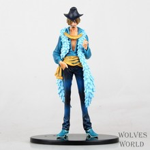 Hot ! NEW 18cm latest report One piece luffy Sanji action figure toys Christmas toy(China)