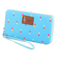 Fashion Korea Lunch Box Female Women wristlet wallet purse Designers Brand for Cellphone Bag 2016 New Style(China)