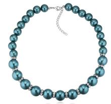 SPX7521 Fashion Choker Chunky bead pearl Blue Colar necklaces (short woman necklace) Gift Jewelry