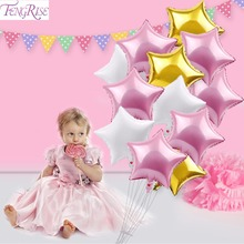 12pcs Foil balloons Baby shower Birthday party decorations kids Christening baptism favors Party supplies(China)