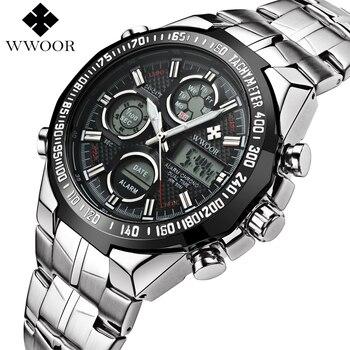 Top Marca de Lujo Impermeable de Los Hombres Relojes Deportivos Reloj Hombre Militar Del Ejército del Cuarzo de Los Hombres LED Digital Reloj de Pulsera Relogio masculino