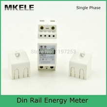 New Arrivals Din Rail MK-LEM012SJ Energy Electricity Meter Box AC Mini Digital Display Power Supply Tester China(China)