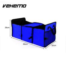 VEHEMO Car Oxford Cloth Folding Collapsible Auto Car Vehicle RV Trunk Organizer Cargo Storage Box Case Bag Container with bag