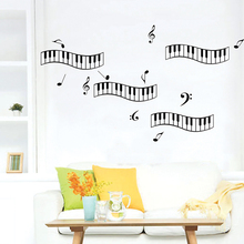 Piano Key Musical Notes Vinyl Removable Home Decor Kids Baby Nursery Child Door Room Wall Poster Stickers Decal Mural