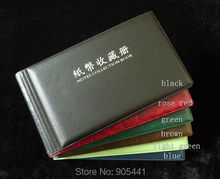 Paper Money Currency Collection Album Banknotes Holder 20/40 Pockets Protection Album Free Shipping(China)