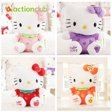 Actionclub Free Shipping 30CM Cartoon Fruit KT Cat Stuffed Animal Toy Hello Kitty dolls Gift for the Child Girl's Birthday Gift