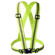 Unisex Safety High Visibility reflection vest Waistcoat Outdoor Running Cycling Vest Harness Reflective Belt Safety Jacket(China)
