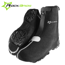 ROCKBROS Winter Warmer Waterproof Rain Reflective Shoes Covers Mountain Road Bike Riding Boots Covers Adjusting Tightness 1 Pair