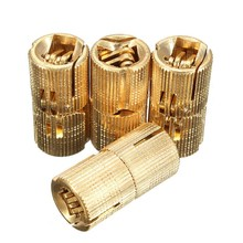 MTGATHER 4PCS Cylindrical 8mm Copper Barrel Hinges Hidden Cabinet Concealed Invisible Brass Hinges For Door Cabinet Top Quality(China)