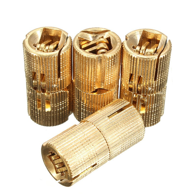 MTGATHER 4PCS Cylindrical 8mm Copper Barrel Hinges Hidden Cabinet Concealed Invisible Brass Hinges For Door Cabinet Top Quality(China (Mainland))