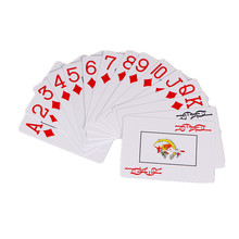 Hot Sale Plastic playing CARDS PVD frosted wide big line edition of Texas poker wholesale water proof poker