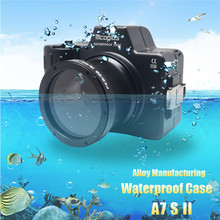 Mcoplus Waterproof Case for Sony A7SII A7S Mark II Camera 100M/325ft Alloy Manufacturing Underwater Camera Diving Housing Bag(China)