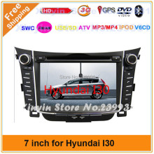 Car radio dvd gps aduio player For HYUNDAI I30 2012 7'' Car DVD with IPOD GPS TV Bluetooth player+3G USB Host +Free 4Gmap