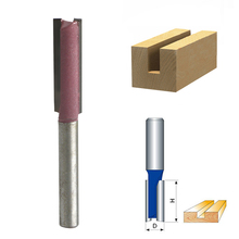 "1/4 ""Shank 3/8"" Blade Woodworking Double Flutes Straight Router Bit Cutter"