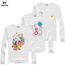 DMDM PIG Children's T-shirt Kids T Shirts Toddler Baby Boy Girl Tops Long Sleeve T-shirts For Boys Girls Clothes Tshirt 8 Years