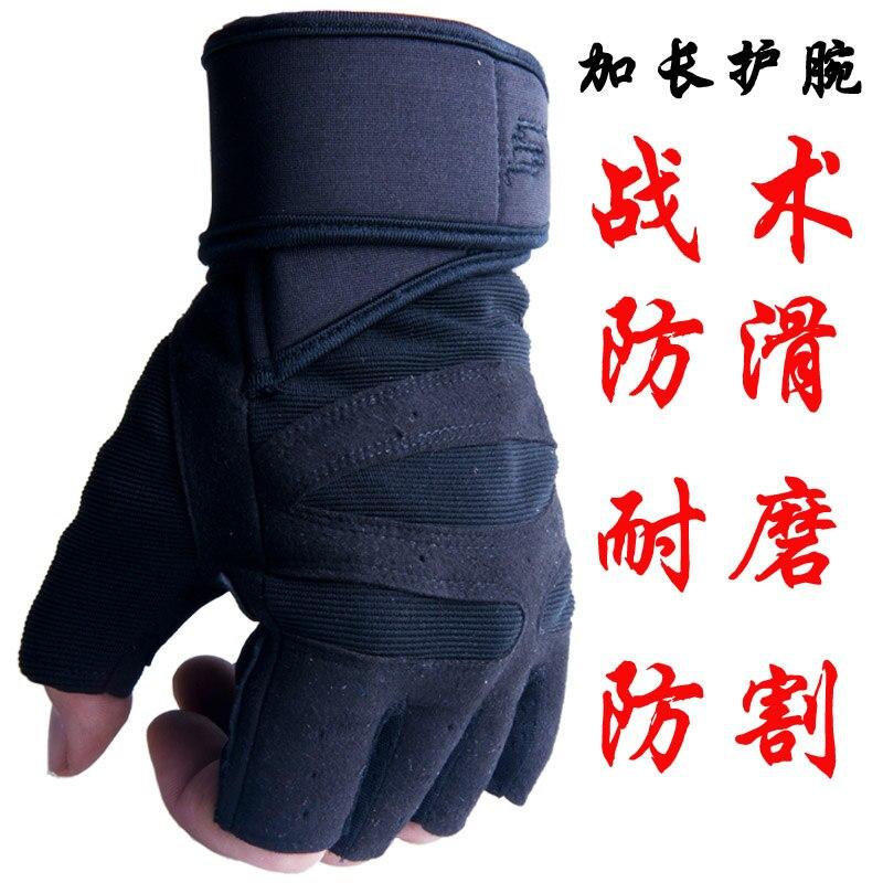 Mens fitness gloves breathable sports gloves female gym dumbbell training equipment Half Finger Bracers antislip pocket<br>