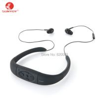 Waterproof MP3 Player and Headphones with Bluetooth & Speaker All in One,IPX8 Waterproof Wireless & Noise Canceling for Swimming(China)