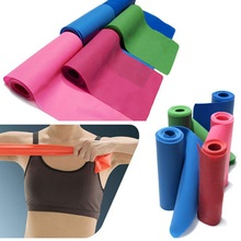 Yoga Pilates Stretch Workout Resistance Bands Exercise Fitness Band Training Elastic Exercise Fitness Rubber 1.5m
