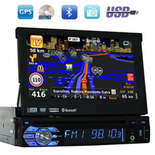 1 din Car Audio DVD Player GPS Navigation Stereo in center console Radio Player Audio Supports Steering wheel control iPod USB(China)